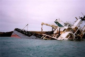 Затоплення чергового судна на озері Донузлав