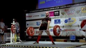 Львів'янин Назар Лемець – срібний призер чемпіонату Європи з класичного пауерліфтингу серед юнаків