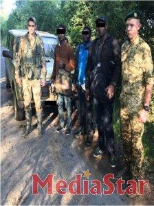 В результаті взаємодії українських і угорських прикордонників на Закарпатті затримано трьох нелегалів з Африки