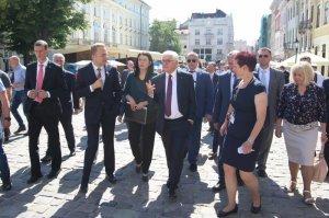 Президент Німеччини оглянув історичні пам'ятки Львова, відреставровані у співпраці з GIZ