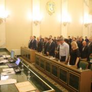 Депутати хвилиною мовчання вшанували пам'ять загиблих воїнів на сході України