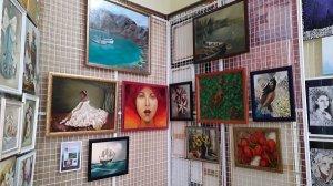 """Художниця Зоряна Павлишин представила свої полотна на колективній виставці """"Різдвяні вечори в галереї """"Глобус"""""""""""