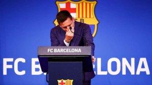"""Мессі не стримав сліз під час прощання з """"Барселоною"""""""