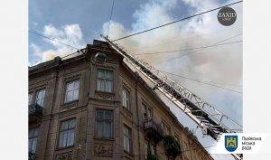 На вул. Кн. Романа, 32 є загоряння у мансардній квартирі, постраждалих не виявлено