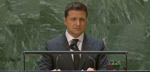 Зеленський в ООН зацитував Путіна російською і розповів про злочини Росії