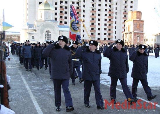 Військовослужбовці внутрішніх військ  відзначили День захисника Вітчизни (ФОТО)