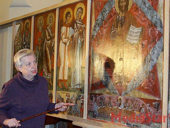 У Львові продемонстрували частково відреставрований іконостас ХVI-ХVIІІ ст. (ФОТО)